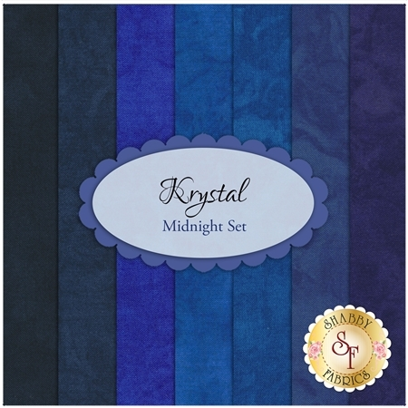 Krystal  7 FQ Set - Midnight Set by Michael Miller Fabrics