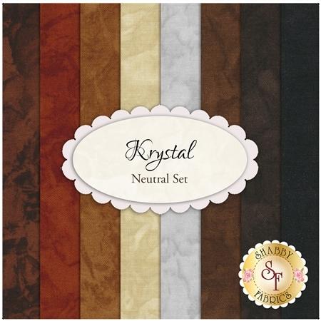 Krystal  8 FQ Set - Neutral Set by Michael Miller Fabrics