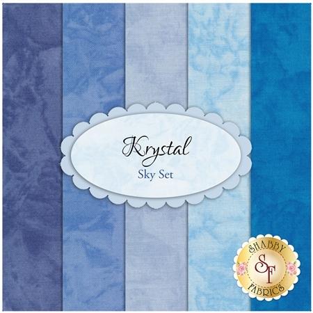 Krystal  5 FQ Set - Sky Set by Michael Miller Fabrics