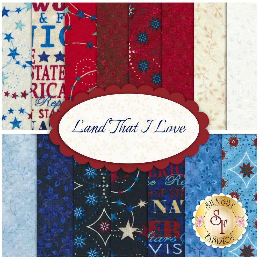 Land That I Love  9 FQ Set by Blank Quilting Corporation