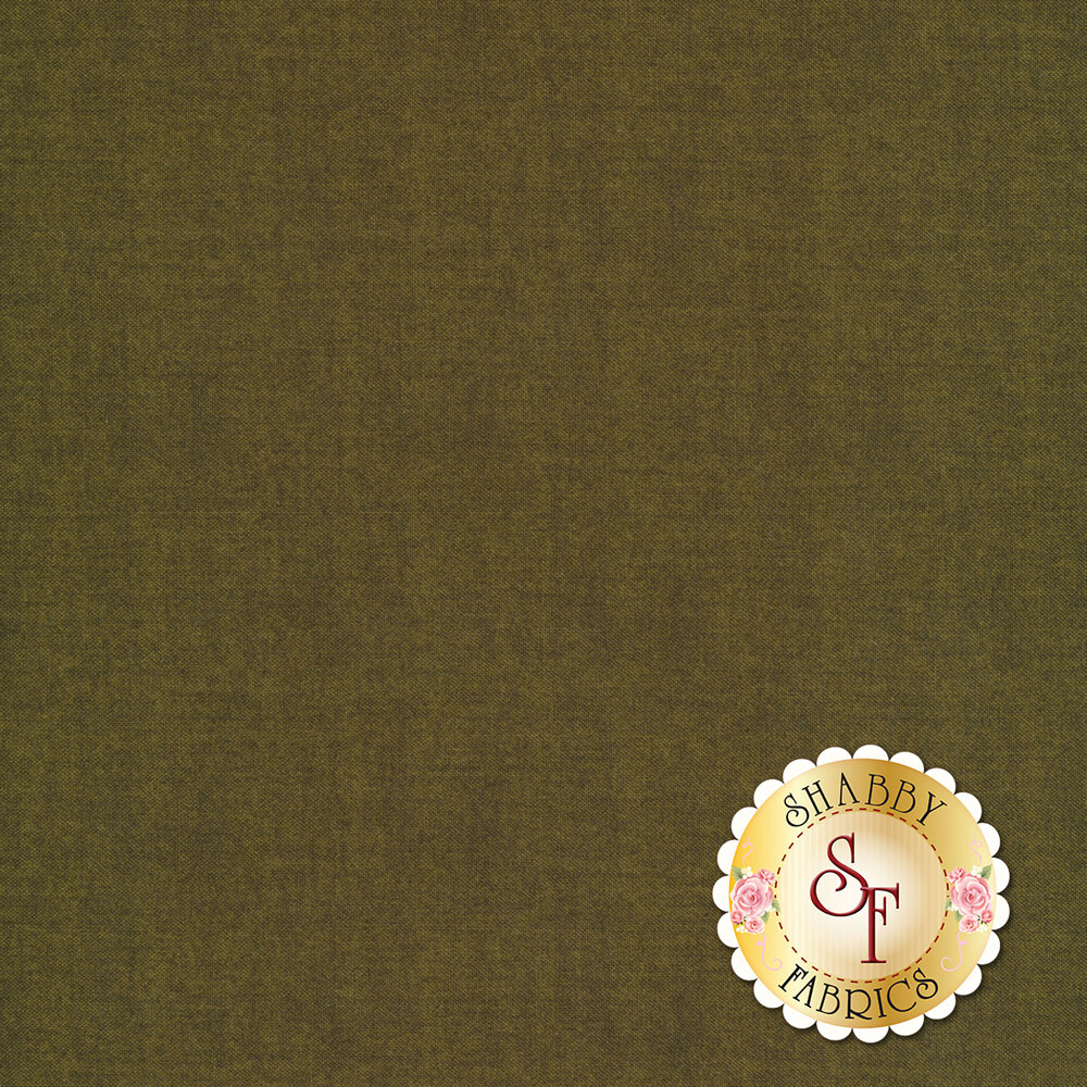 A dark olive textured fabric | Shabby Fabrics