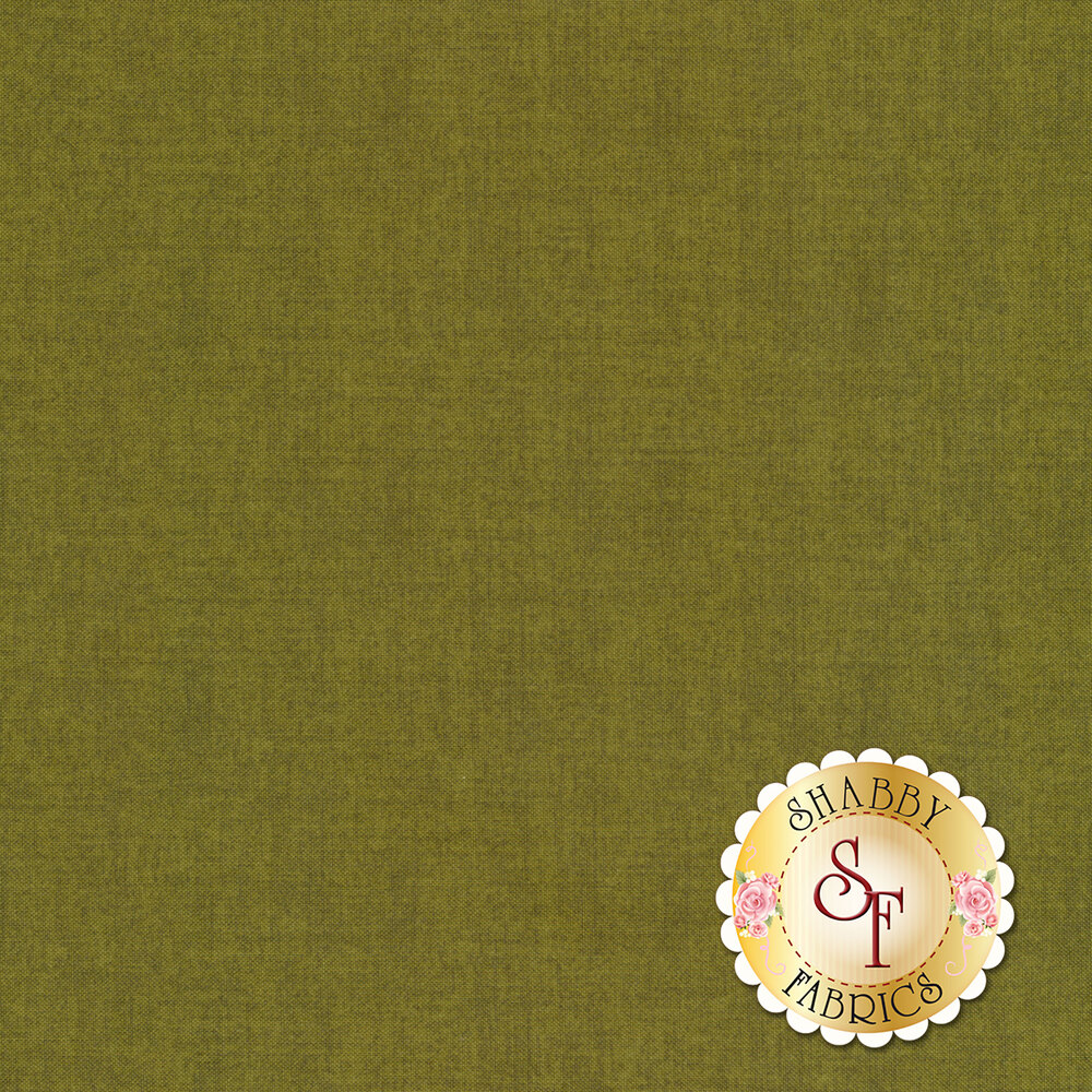 A textured green fabric | Shabby Fabrics