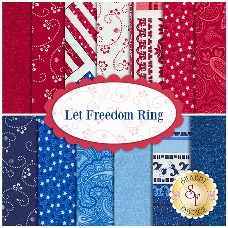 Let Freedom Ring 13 FQ Set by First Blush Studio for Henry Glass Fabrics