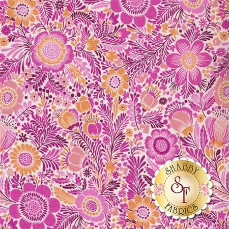 Liberty Garden 1703-68 Libby Fuchsia by Dover Hill for Benartex Fabrics