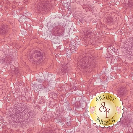 Liberty Garden 1704-26 Sweet Liberty Coral/Pink by Dover Hill for Benartex Fabrics