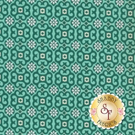 Liberty Garden 1707-43 Garden Gates Light Jade by Dover Hill for Benartex Fabrics