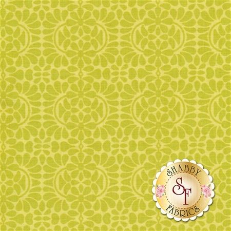 Liberty Garden 1708-40 Libby's Lace Lime by Dover Hill for Benartex Fabrics