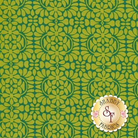 Liberty Garden 1708-44 Libby's Lace Green by Dover Hill for Benartex Fabrics- REM