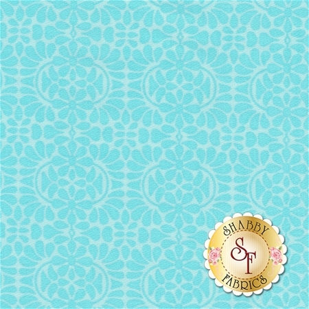 Liberty Garden 1708-84 Libby's Lace Turquoise by Dover Hill for Benartex Fabrics