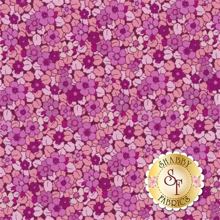 Liberty Garden 1709-22 Beloved Blooms Pink by Dover Hill for Benartex Fabrics