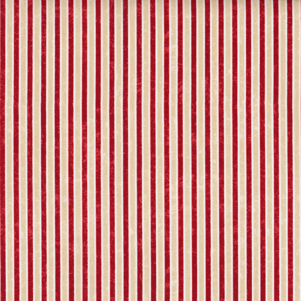Red pinstripes on a cream background