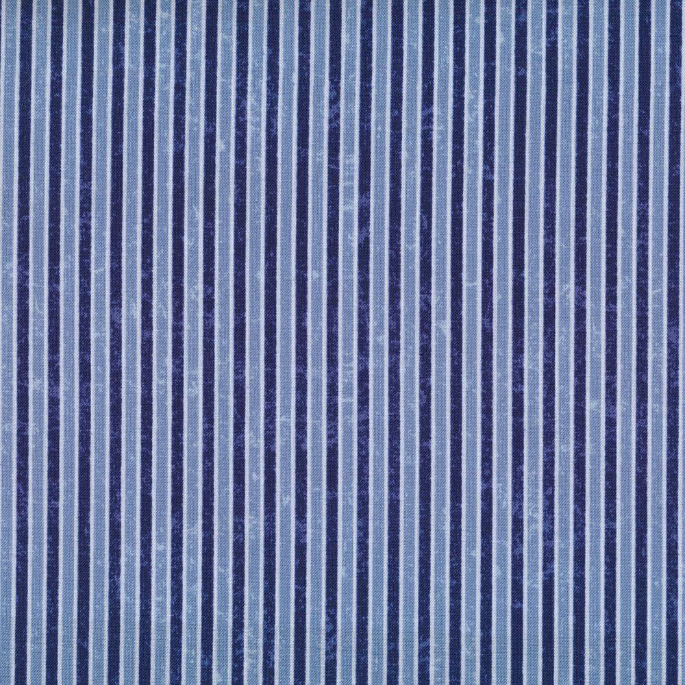 Tonal blue pinstripe fabric
