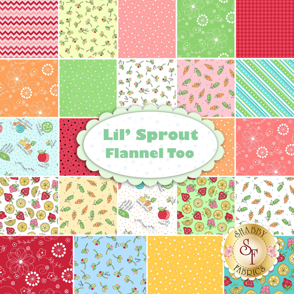 Lil' Sprout Flannel Too  Yardage by Kim Christopherson for Maywood Studio Fabrics