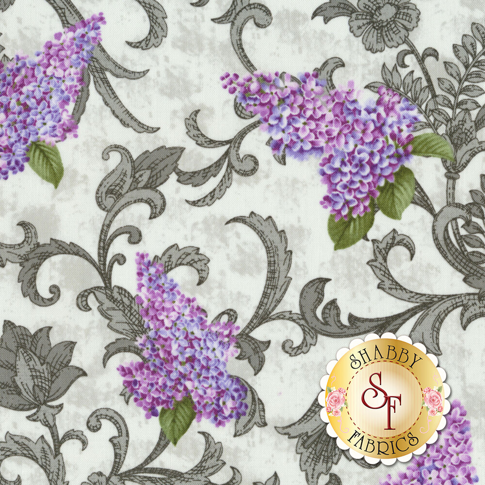 Lilacs in Bloom 5483-13 for Benartex Fabrics