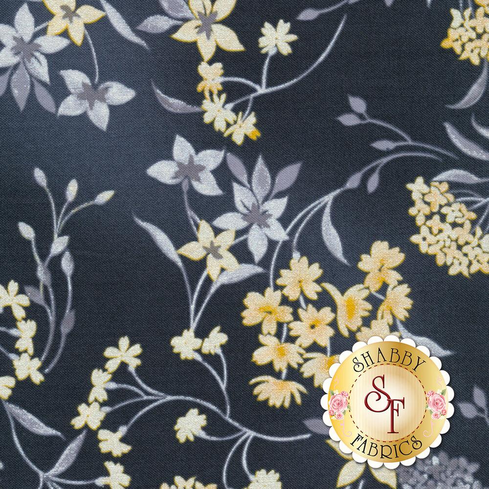 Limoncello 7740P-11 Garden Charcoal Gray by Kanvas Studio StudioFabrics available at Shabby Fabrics