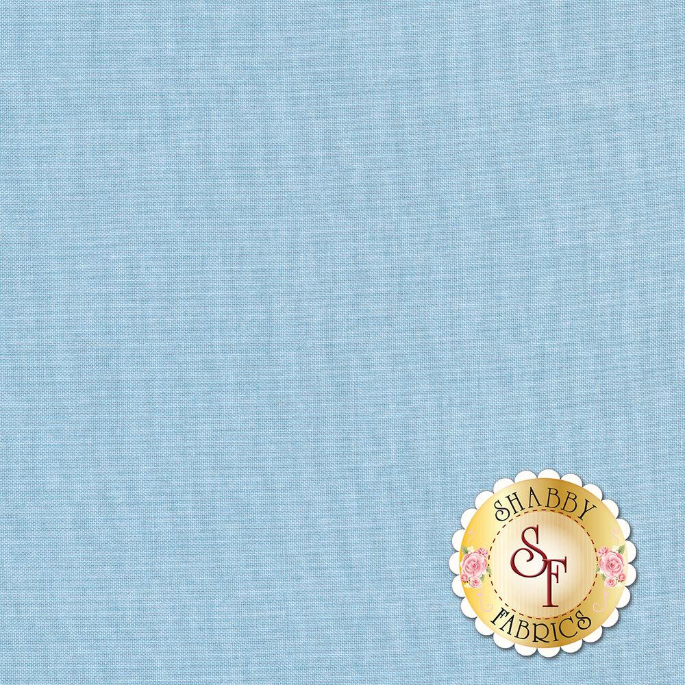 Linen textured light blue fabric | Shabby Fabrics