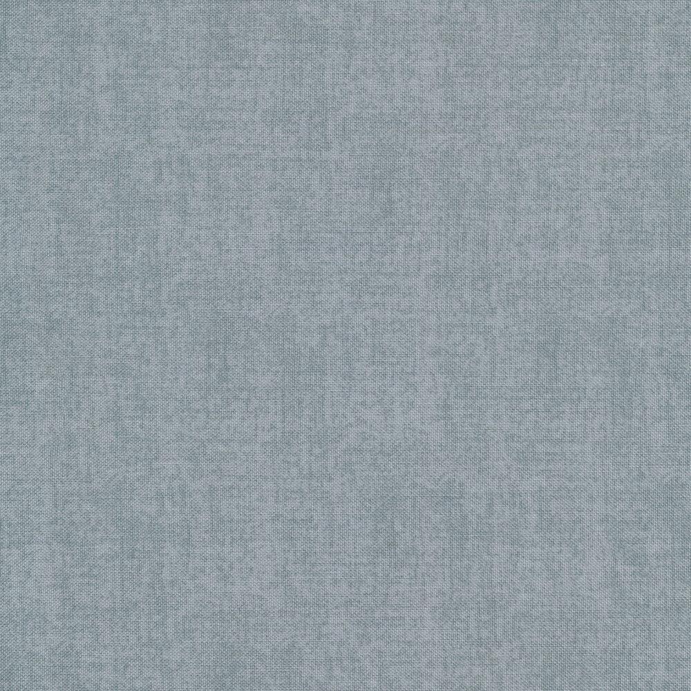 Linen textured grey blue fabric | Shabby Fabrics