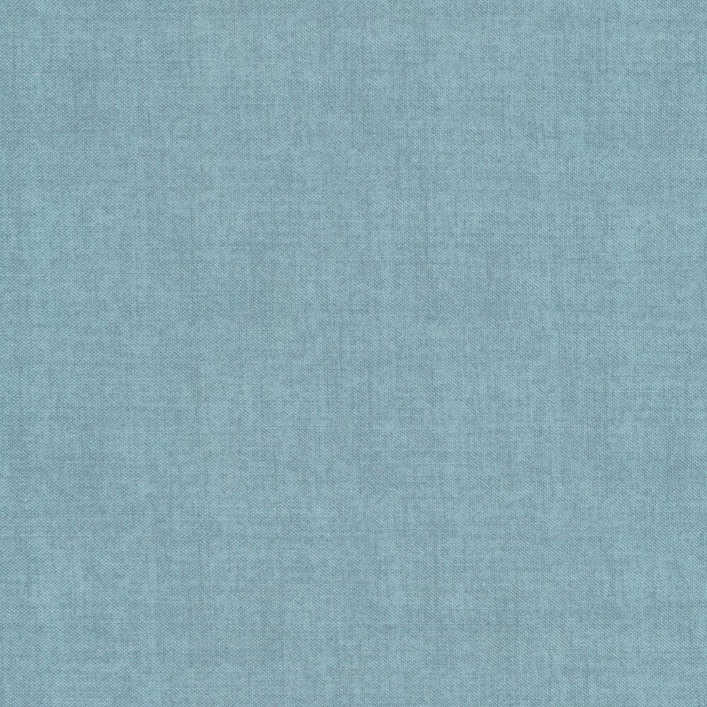 Linen textured blue fabric | Shabby Fabrics
