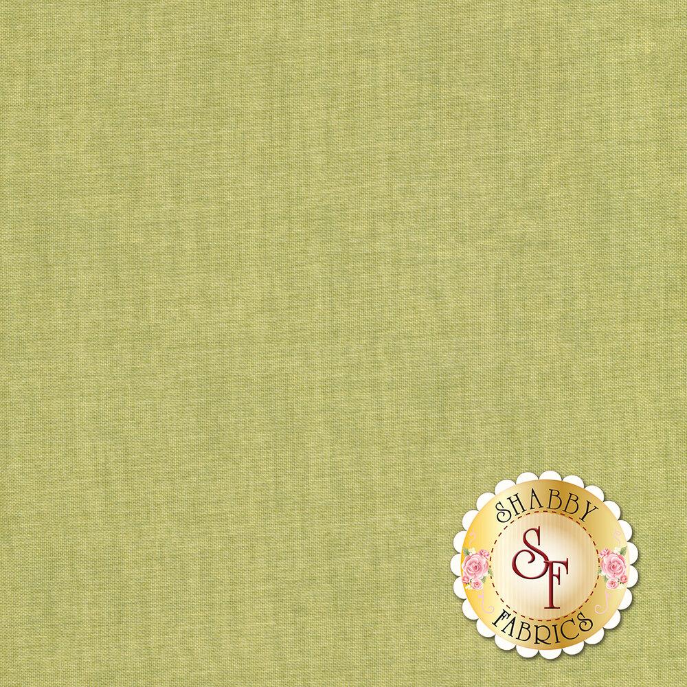 Linen textured green fabric | Shabby Fabrics