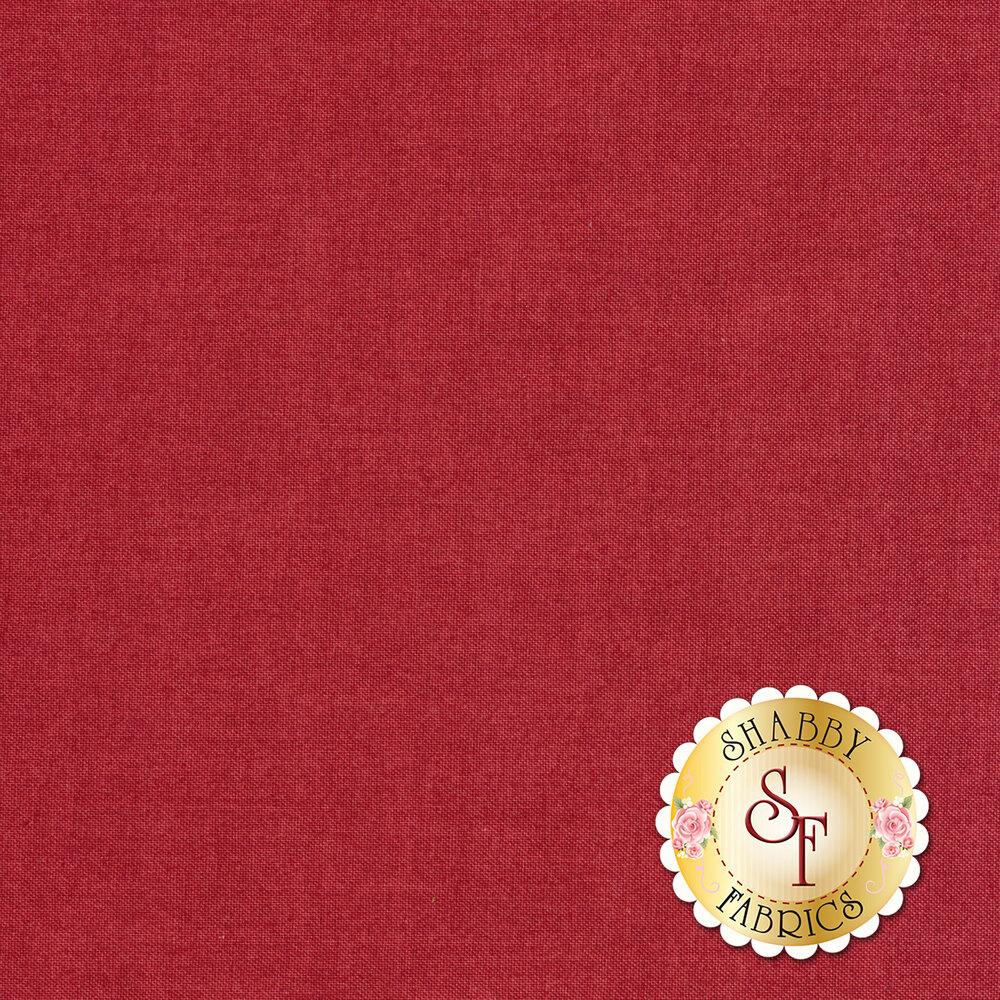 Linen textured red fabric | Shabby Fabrics