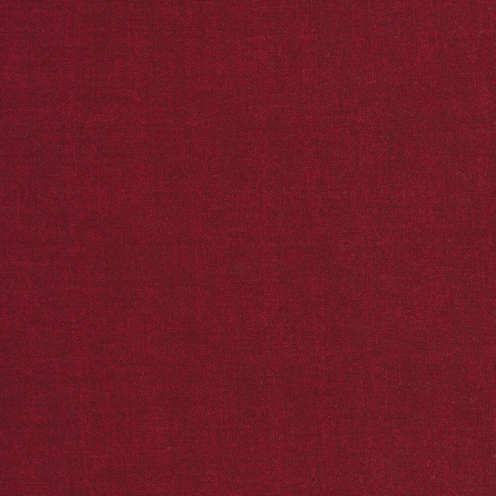 Linen textured dark red fabric   Shabby Fabrics