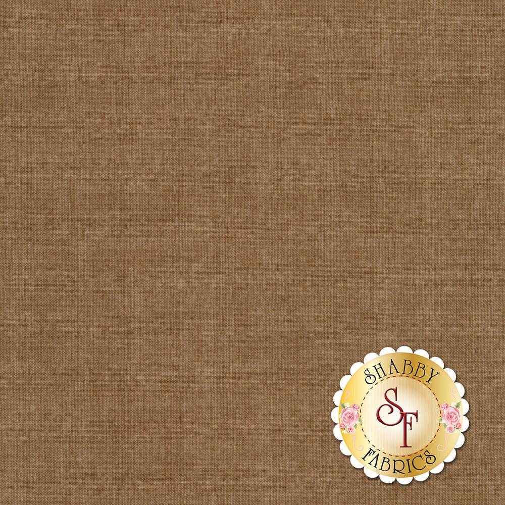 Linen textured brown fabric | Shabby Fabrics