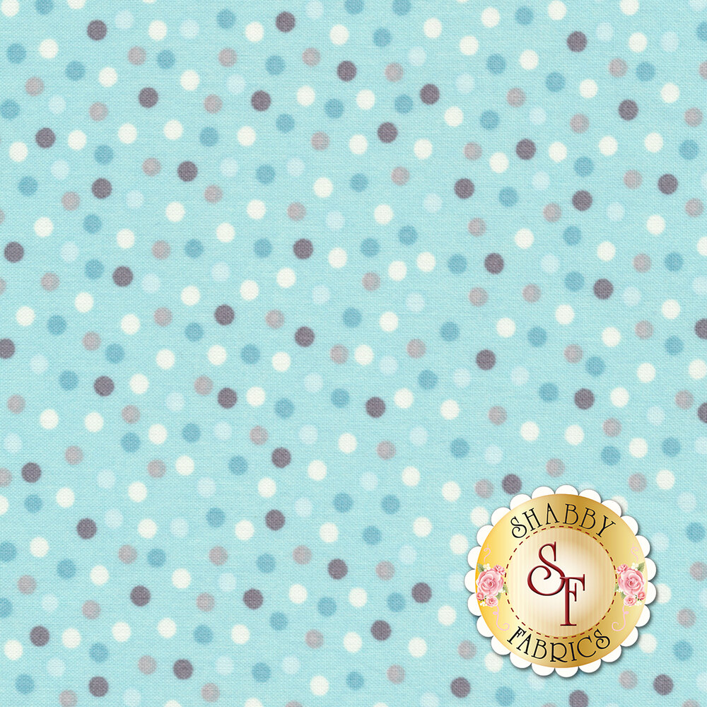 Little Sunshine 70444-791 Dots Turquoise by Wilmington Prints
