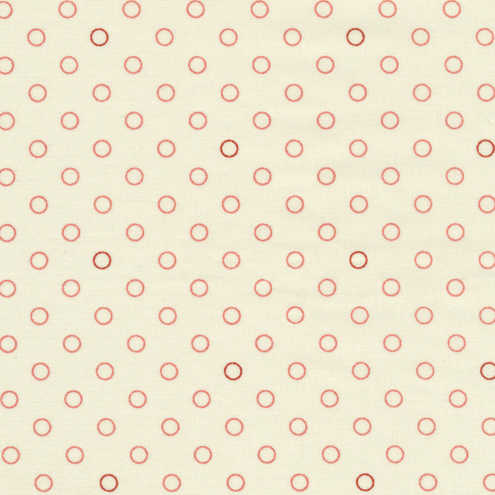 Pink and red rings on a cream background