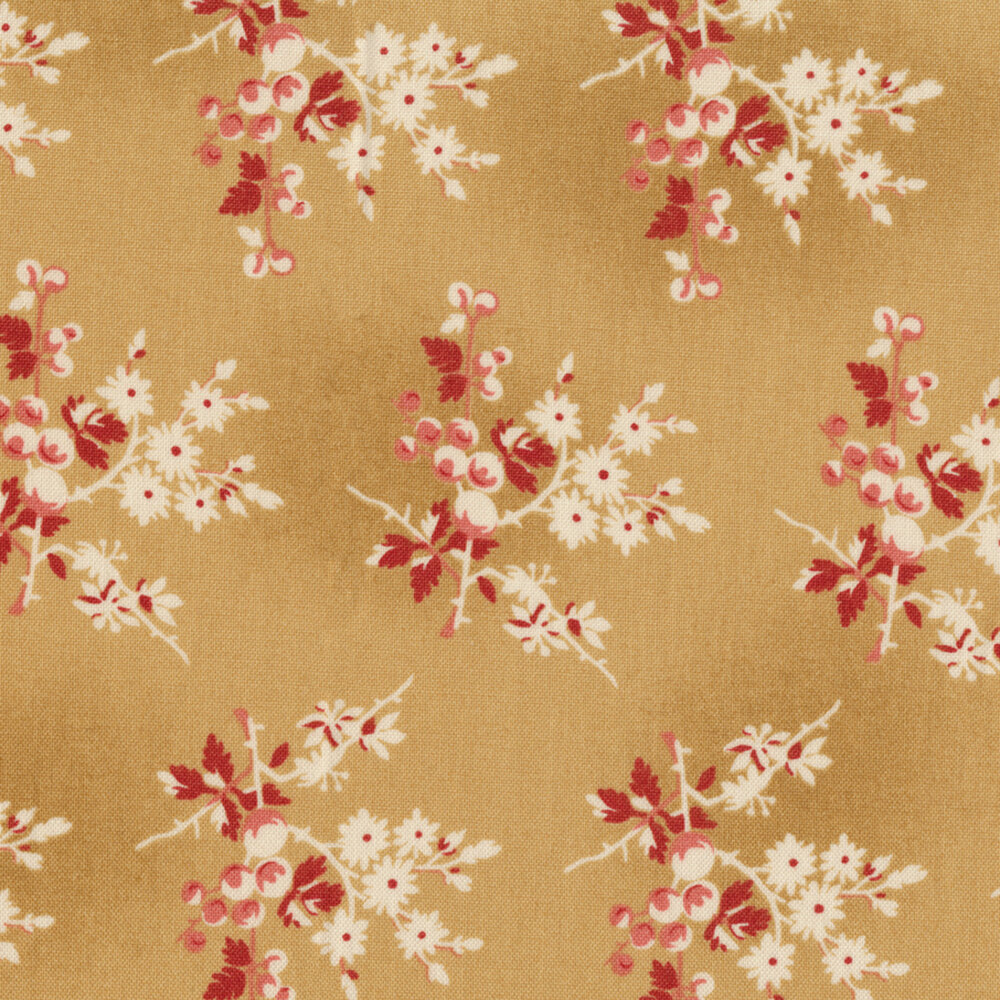 Little Sweetheart 8824-L1 Biscuit Fresh Berries by Edyta Sitar for Andover Fabrics