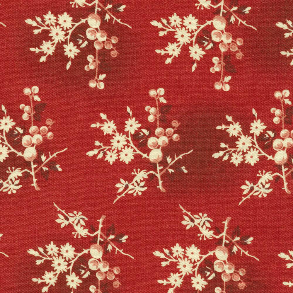 Little Sweetheart 8824-R Crimson Fresh Berries by Edyta Sitar for Andover Fabrics