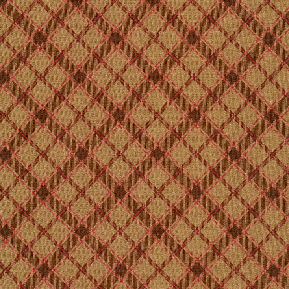 Pecan colored plaid fabric | Shabby Fabrics