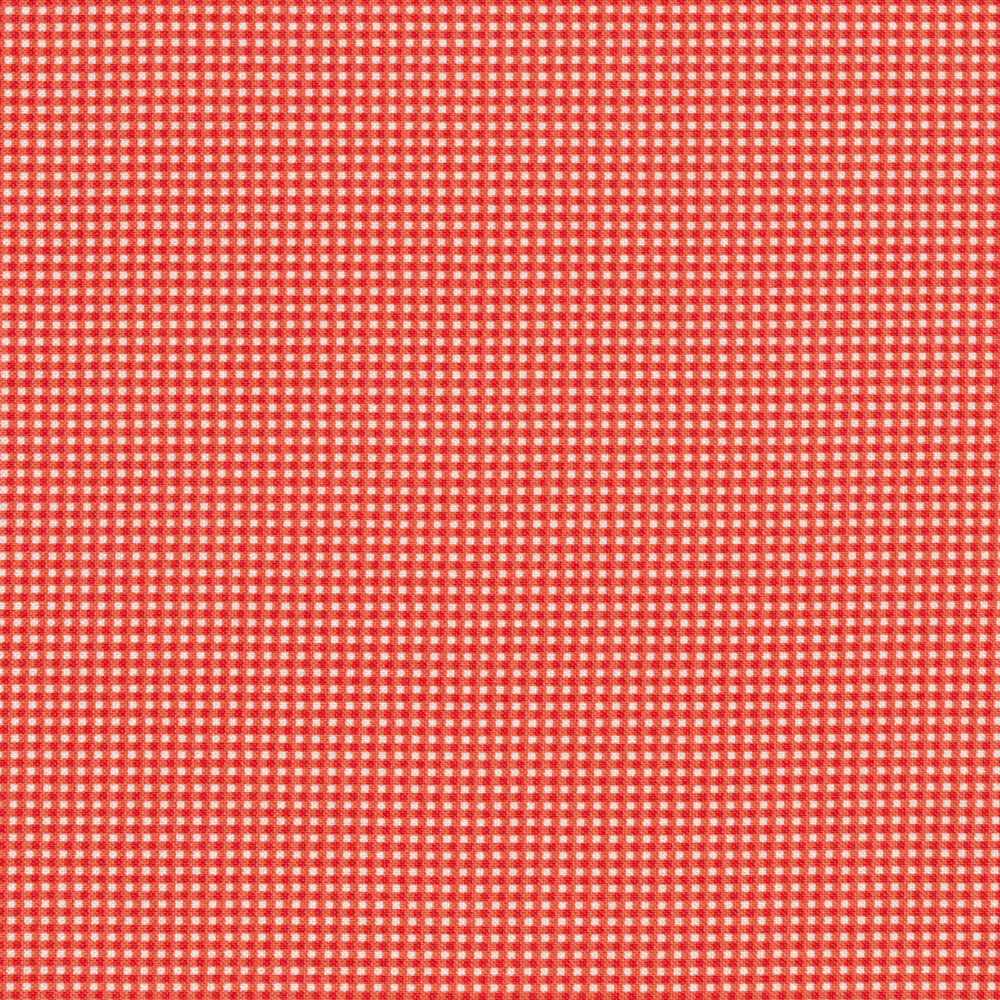 Small red gingham design | Shabby Fabrics
