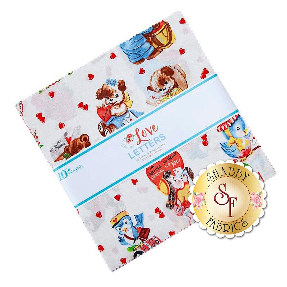 "Love Letters 10"" Squares   Shabby Fabrics"