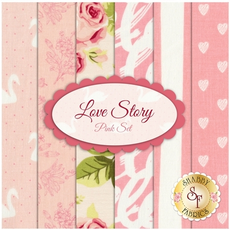 Love Story 6 FQ Set - Pink Set by Riley Blake Designs
