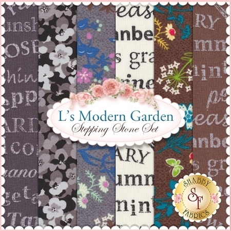 L's Modern Garden  6 FQ Set - Stepping Stone Set by Lecien Fabrics