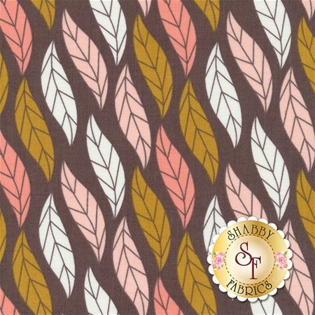Magnolia 2240404-3 Leaves in Dark Taupe by Alisse Courter for Camelot Fabrics