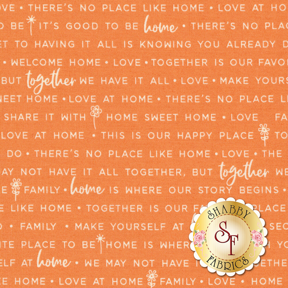 Make Yourself At Home 9395-O Orange Home Phrases for Maywood Studio