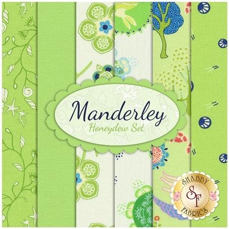 Manderley  6 FQ Set - Honeydew Set by Moda Fabrics