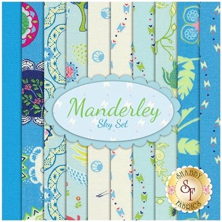 Manderley  10 FQ Set - Sky Set by Franny and Jane for Moda Fabrics