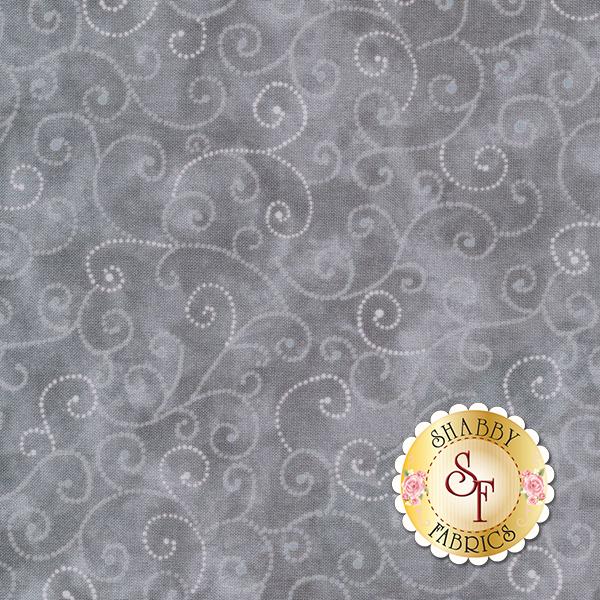 Tonal gray fabric with swirls | Shabby Fabrics