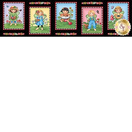 Mary's Fairies 25890-J Picture Patches Panel by Mary Engelbreit for Quilting Treasures