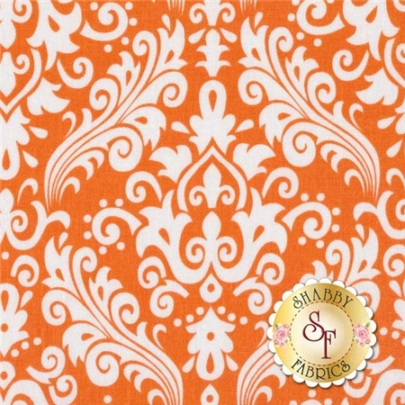 Medium Damask 830-60 Orange By Riley Blake Designs