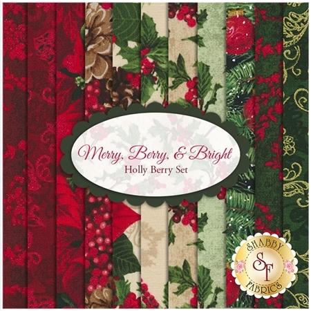 Merry, Berry, & Bright   11 FQ Set - Holly Berry Set by RJR Fabrics