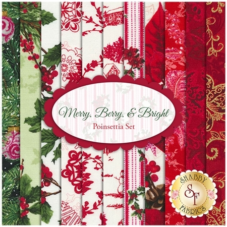 Merry, Berry, & Bright   11 FQ Set - Poinsettia Set by RJR Fabrics