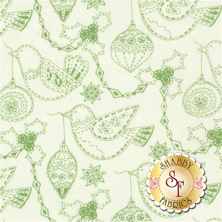 Merry Merry 27273-21 Snow Spruce by Kate Spain for Moda Fabrics