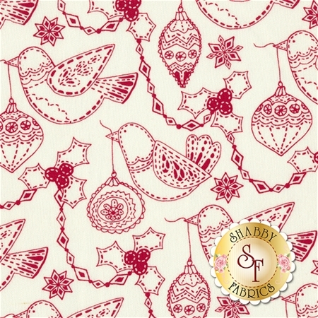Merry Merry 27273-23 Snow Ribbon by Kate Spain for Moda Fabrics