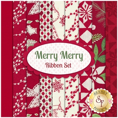 Merry Merry  9 FQ Set -  Ribbon Set by Kate Spain for Moda Fabrics