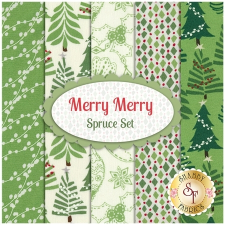 Merry Merry  5 FQ Set -  Spruce Set by Kate Spain for Moda Fabrics