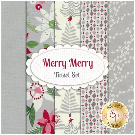 Merry Merry  5 FQ Set - Tinsel Set by Kate Spain for Moda Fabrics