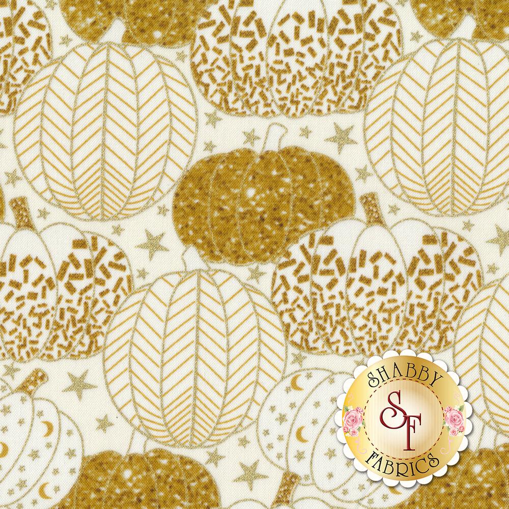 Midnight Spell 6955M-44 Pumpkins Cream by Henry Glass Fabrics